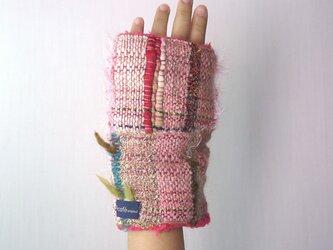 手織り もこもこファー手袋の画像
