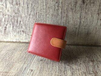 2つ折り財布(ミッツムッツ )赤の画像