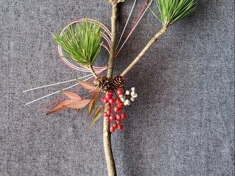 限定1点「根引松」(ねびきまつ)の和モダンお正月飾り(生花)の画像