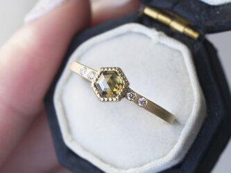 カーキダイヤモンドリング(No.1344)の画像