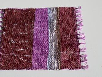 手織りコースター(大きめ)の画像