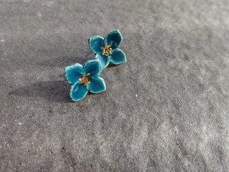 小さい花のpieace/earring (深緑)の画像