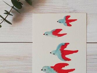 ポストカード2枚セット「鳥」の画像