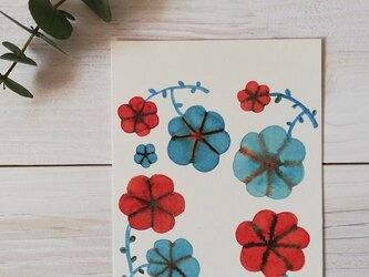 ポストカード2枚セット「押し花」の画像