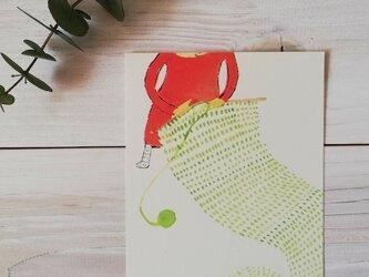 ポストカード「あみものと猫」の画像