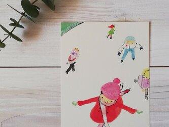 ポストカード「スケート」の画像