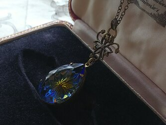ヴィンテージ Sapphire/Topaz Prism-Star (paer)ネックレスの画像
