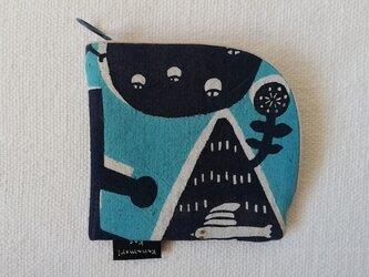 型染め 財布「冬の渡り鳥」の画像