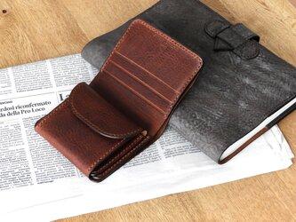 二つ折り財布/イタリア革/ダークブラウンの画像