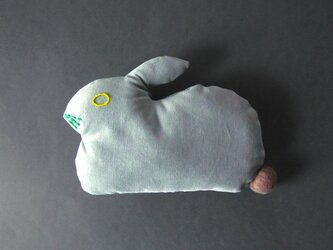 """ Stickitten""  rabbit loaf コーデュロイ / スモークグリーンの画像"