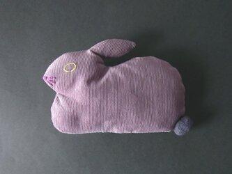 """ Stickitten""  rabbit loaf コーデュロイ / スモークパープルの画像"