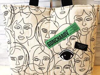 トートバッグ*ALLface(緑色)の画像