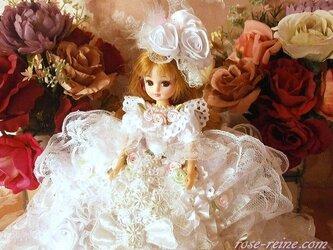 C様ご予約作品。風の詩 白鳥の舞 ニューデザイン プリンセス ドールドレス 煌めきのスノーホワイトの画像