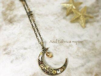 首飾り:機械月#19 ‐金の月‐の画像