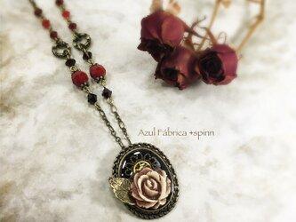 首飾り:antique rose (red)の画像