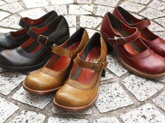 どこか懐かしいヒールシューズ(0594) 靴 日本製 国産素材 オリジナルシューズ 【納期5~11日】の画像