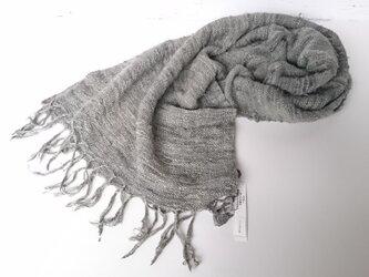 真綿紬のストール☆ローレル染めの画像