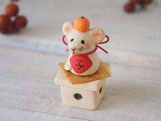 【陶器の小さなちいさな干支飾り】*子eの画像