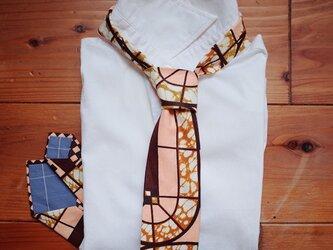 アフリカンプリントx播州織ネクタイ tabletの画像
