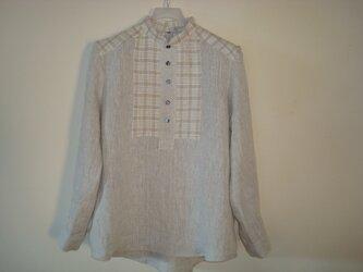 リネンシャツ*すっきりコンパクト衿!の画像