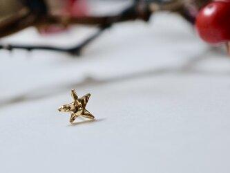 一番星のピアス 1pc / 18K Yellow Gold Star Single Earringの画像