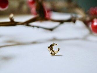 三日月のピアス 1pc / 18K Yellow Gold Crescent Moon Single Earringの画像
