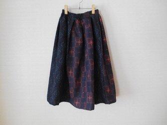 紬2種の着物リメイクスカート★裏地付の画像