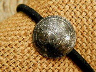 #H125  USA Coin Hair Elasticの画像