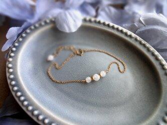 Fortune Ring Bracelet ■14kgf 天然石・誕生石■ レインボームーンストーン 6月の画像