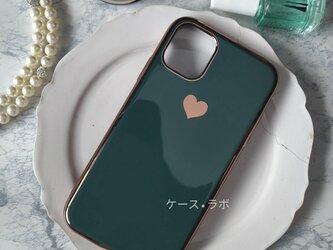 即納アリ*スマホケース ミラーハートグリーン iPhoneケー iphone11 iPhoneXR iPhone11proの画像