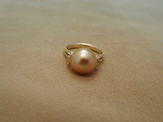 南洋真珠(GOLD)リングの画像
