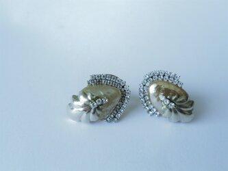 パール&シェルビジューイヤリング ミリアムハスケル vintage earrings Miriam Haskell <Pの画像