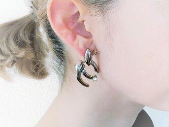 シルバーモチーフピアス vintage earrings CV <PE4 -L19>の画像