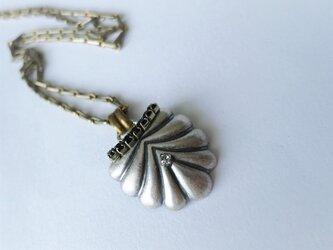 シルバーシェルネックレス vintage necklace <NE2-L19>の画像