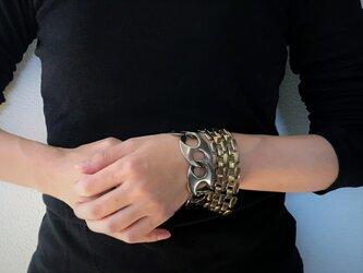 メッシュチェーンブレスレット vintage bracelet coin <BL4-L19>の画像