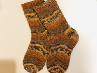 No.237 送料込手編み靴下の画像