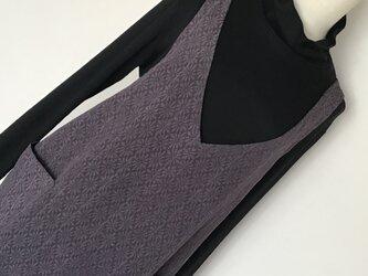 1223    着物リメイク M寸法のコクーンジャンバースカート   お召の画像
