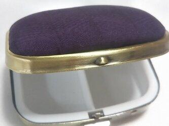 紫根染 シルク サプリケース 無地の画像