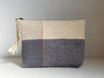 裂き織りのポーチの画像