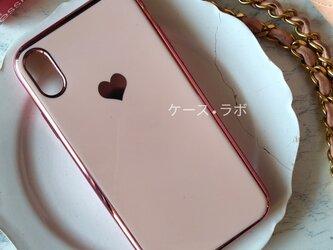 即納アリ*スマホケース ミラーハートピンク iPhoneケー iphone11 iPhoneXR iPhone11proの画像