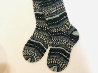 No.240 送料込手編み靴下の画像