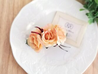 スウィートローズのバレッタ☆*:.アプリコット sweet rose valletta  apricotの画像