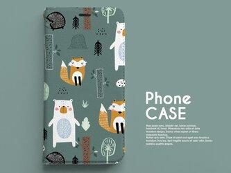 手帳型スマホケース《ベルト無し》 mice_121の画像