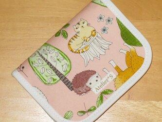 二つ折り財布★動物柄(ピンク)の画像