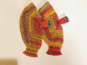 №242 手編みミトン送料込 カルシファーの画像