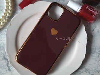 即納アリ*スマホケース ミラーハート レッド iPhoneケー iphone11 iPhoneXR iPhone11proの画像