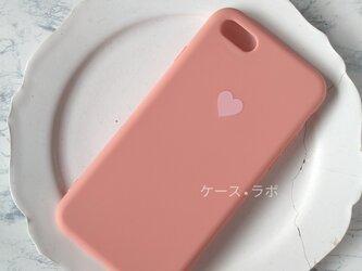 iphoneSE2*スマホケース ハートオレンジ iPhoneケース iPhoneXR iPhone11pro iphone11の画像