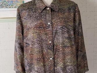Sale着物リメイク 七分袖ペプラムブラウスの画像