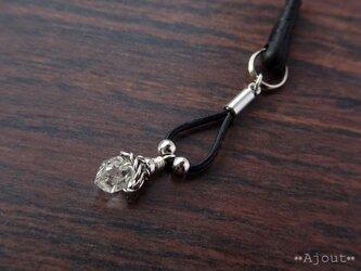 ハーキマーダイヤモンドのスマホピアス《MA-66》の画像