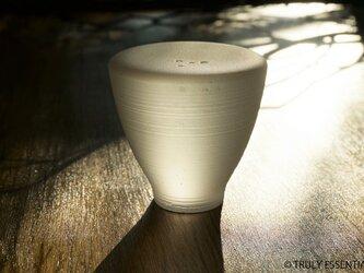 無色透明ガラスのインテリアトレイ -「 灯りのたね 」●直径約7cmの画像